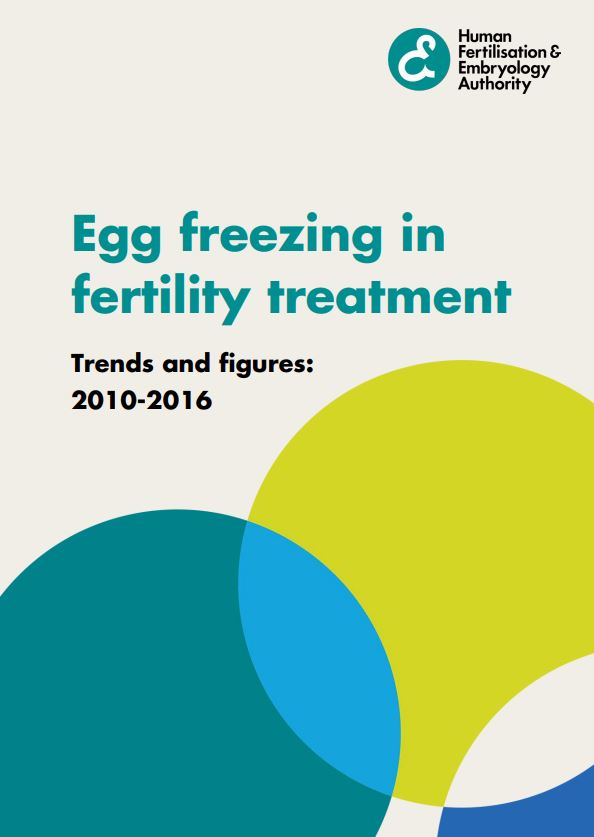 Egg freezing report front cover